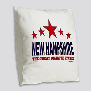 New Hampshire The Great Granit Burlap Throw Pillow