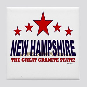 New Hampshire The Great Granite State Tile Coaster