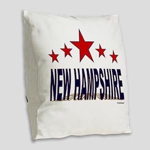 New Hampshire Burlap Throw Pillow