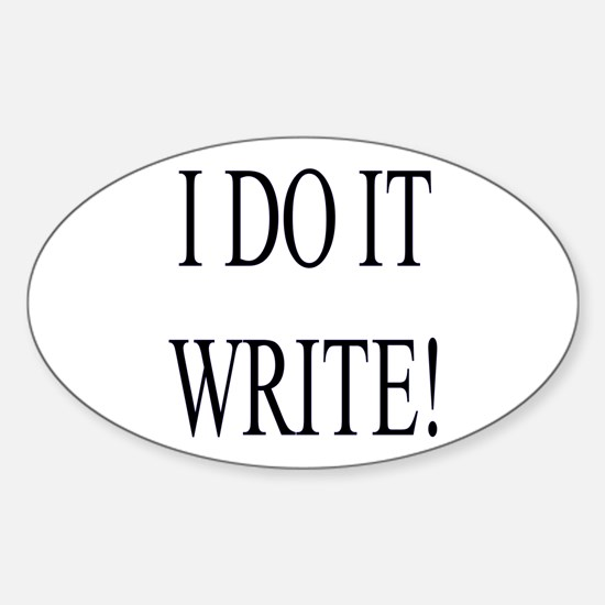Sticker for Writers (Oval)