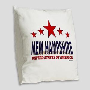 New Hampshire U.S.A. Burlap Throw Pillow