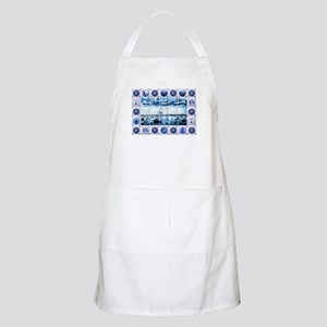 Vintage Old Dutch Delftware Style Mural Apron