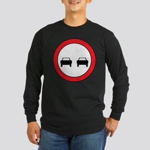 Passing Lane Ahead Long Sleeve Dark T-Shirt