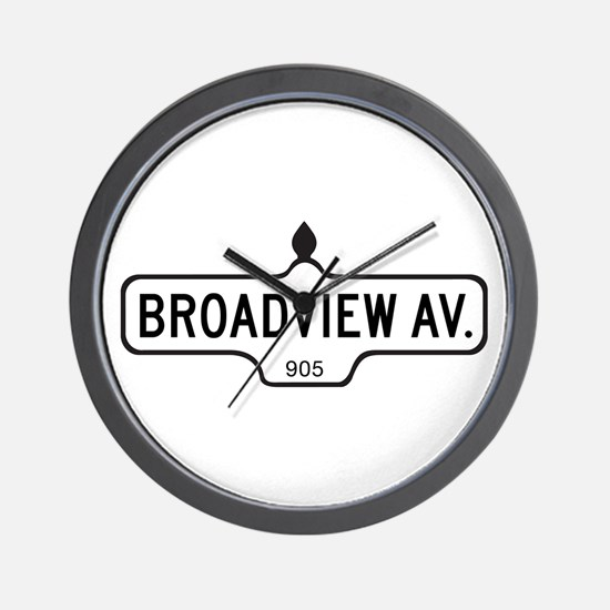 Broadview Av., Toronto - Canada Wall Clock