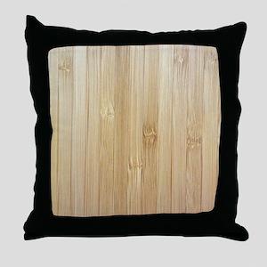 Light Bamboo Pattern Throw Pillow