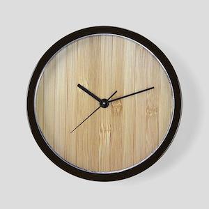 Light Bamboo Pattern Wall Clock