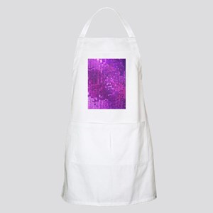 Purple Sequin Pattern Apron
