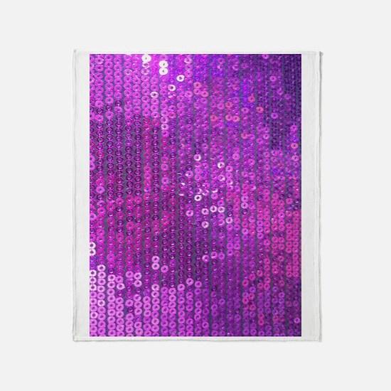 Purple Sequin Pattern Throw Blanket