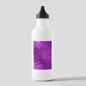 Purple Sequin Pattern Stainless Water Bottle 1.0L