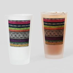 Tribal Native Print Drinking Glass