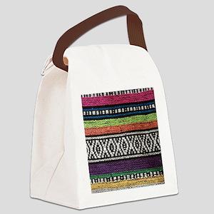 Tribal Native Print Canvas Lunch Bag