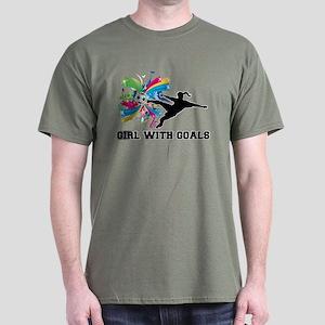 Girl with Goals Dark T-Shirt