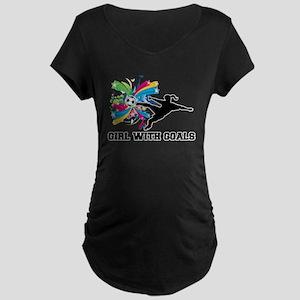 Girl with Goals Maternity Dark T-Shirt