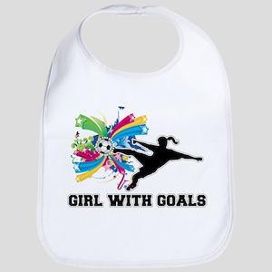 Girl with Goals Bib