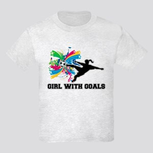 Girl with Goals Kids Light T-Shirt
