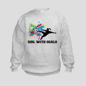 Girl with Goals Kids Sweatshirt