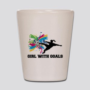 Girl with Goals Shot Glass
