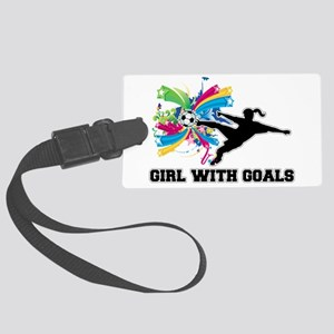 Girl with Goals Large Luggage Tag