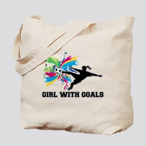 Girl with Goals Tote Bag
