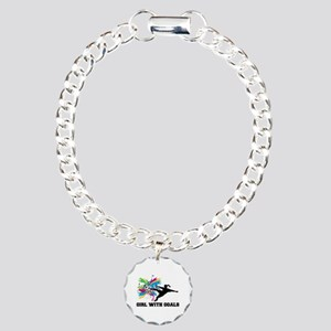 Girl with Goals Charm Bracelet, One Charm
