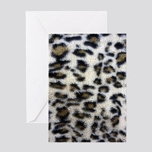 White Brown Leopard Spots Greeting Card