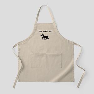 Custom Black Howling Wolf Silhouette Apron