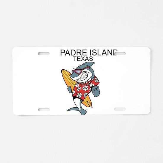 Padre Island, Texas Aluminum License Plate