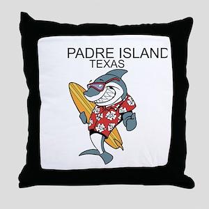 Padre Island, Texas Throw Pillow