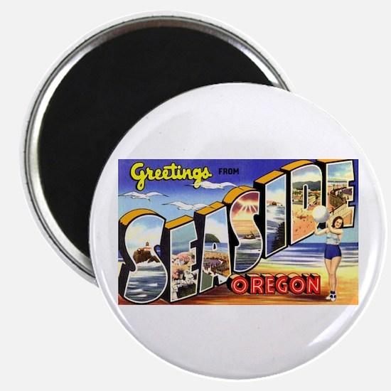 Seaside Oregon Greetings Magnet