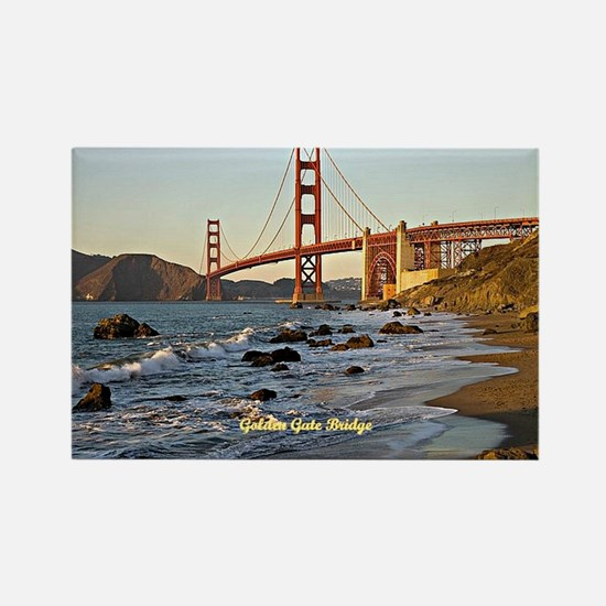 Golden Gate Bridge (labeled) Rectangle Magnet