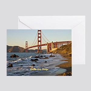 Golden Gate Bridge (labeled) Greeting Card