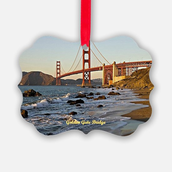 Golden Gate Bridge (labeled) Ornament