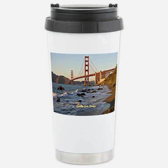 Golden Gate Bridge (labeled) Stainless Steel Trave