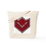 Masonic Square and Compasses Chevron Tote Bag