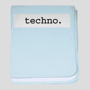 techno.jpg baby blanket