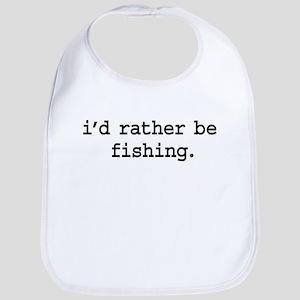 idratherbefishingblk Bib
