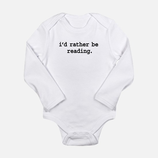 idratherbereadingblk.png Long Sleeve Infant Bodysu