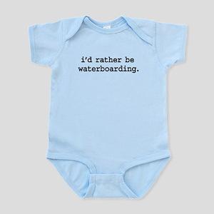 idratherbewaterboardingblk Infant Bodysuit