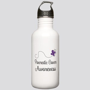 Pancreatic Cancer Butterfly Stainless Water Bottle