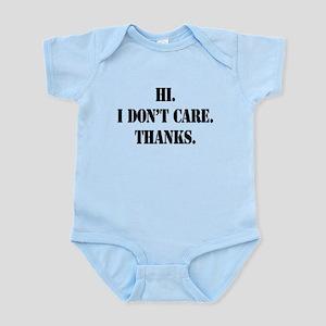 idontcarestencilblk Infant Bodysuit