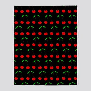 'Cherries' Throw Blanket
