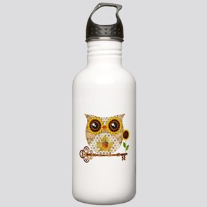 Owls Autumn Song Water Bottle