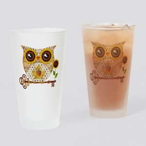 Owls Autumn Song Drinking Glass