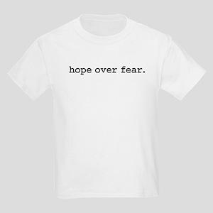hopeoverfearblk.jpg Kids Light T-Shirt
