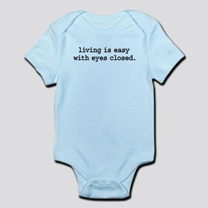 livingiseasywitheyesclosedblk Infant Bodysuit