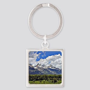 Grand Teton, Wyoming Square Keychain
