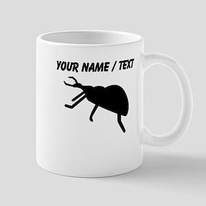 Custom Black Beetle Silhouette Mugs