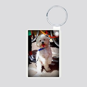 Woof! Aluminum Photo Keychain