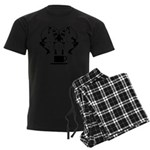 2girls1cupblk Men's Dark Pajamas