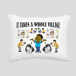 Black Community message Rectangular Canvas Pillow